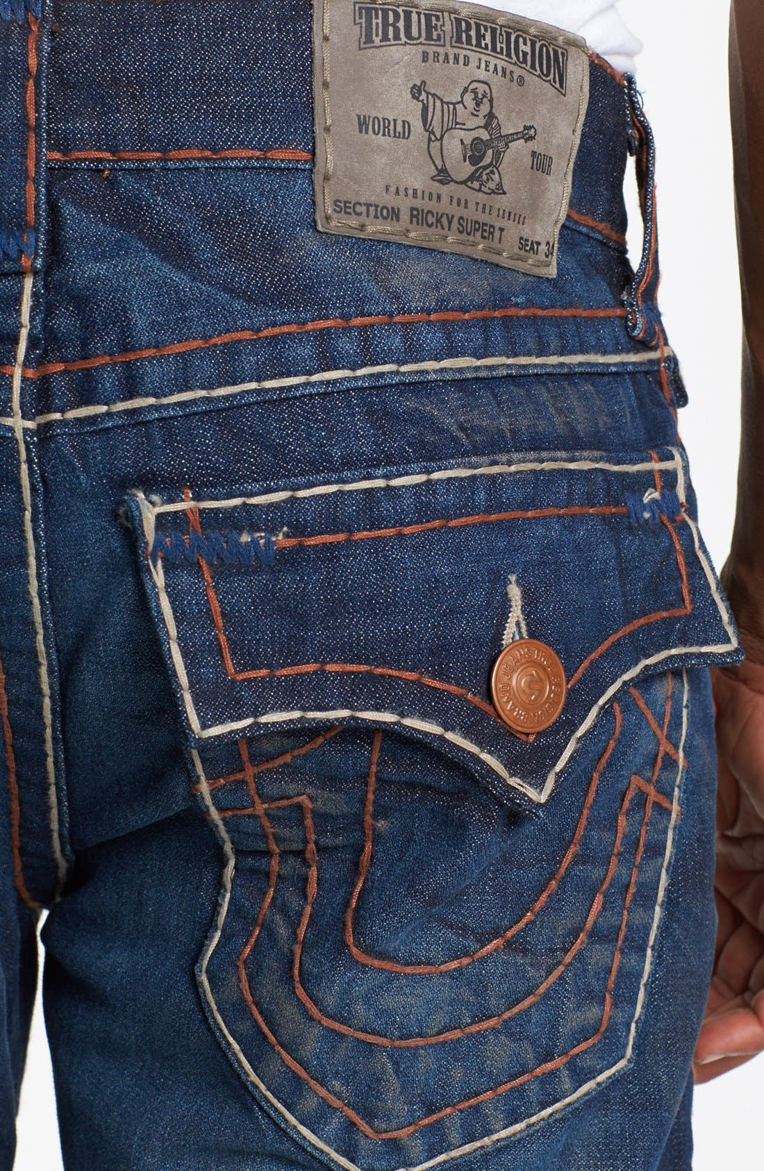 Alternate Image 4  - True Religion Brand Jeans 'Ricky' Straight Leg Jeans (Hideout)