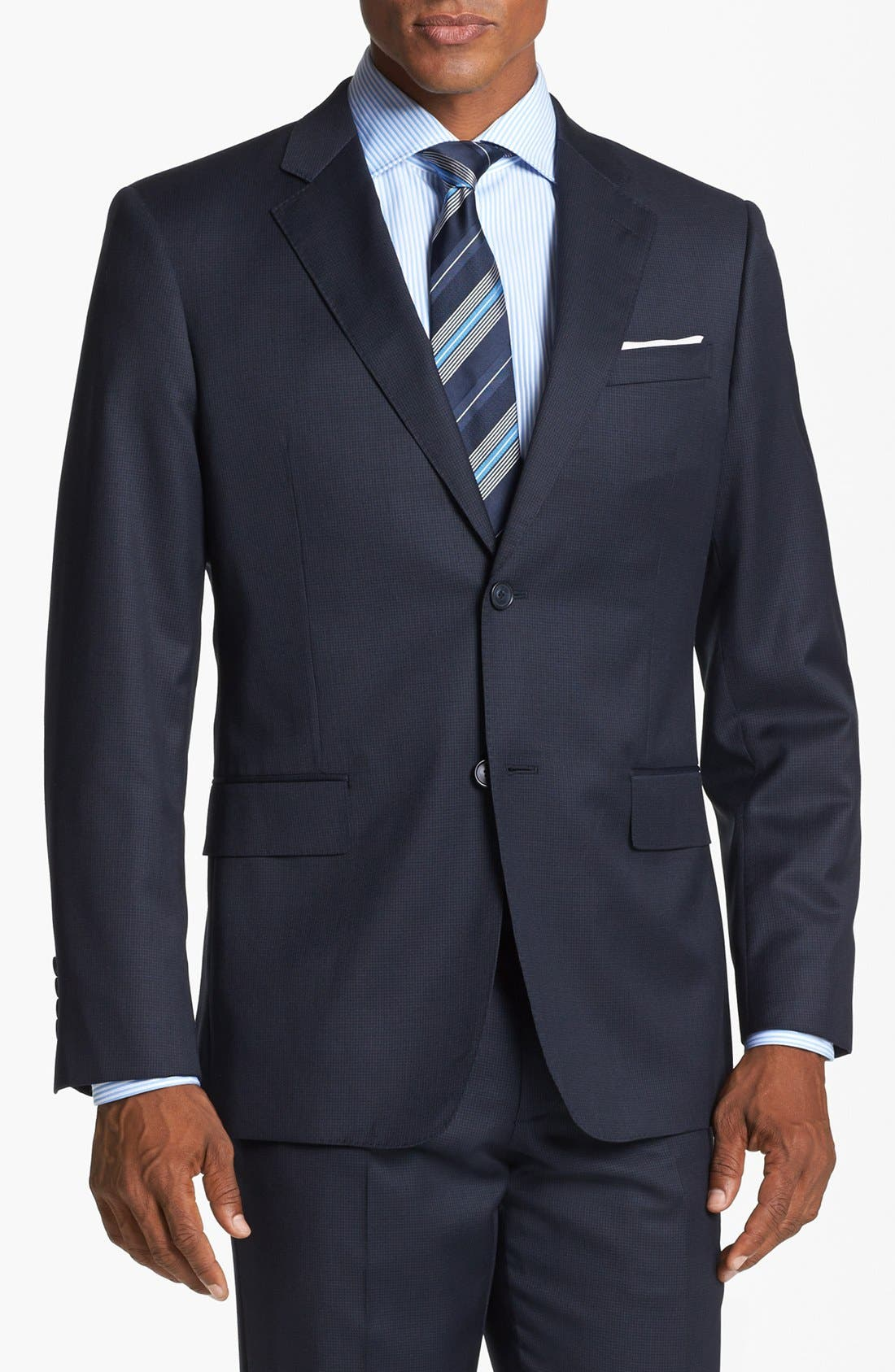 Alternate Image 4  - John W. Nordstrom® Classic Fit Check Wool Suit