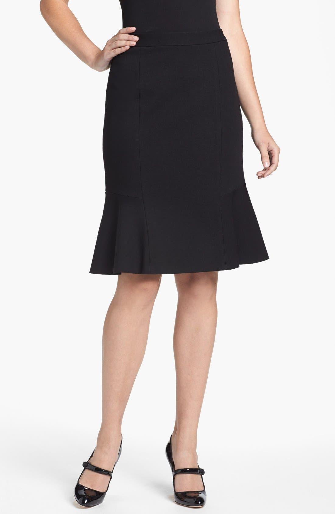 Alternate Image 1 Selected - Classiques Entier® Ruffled Italian Ponte Skirt