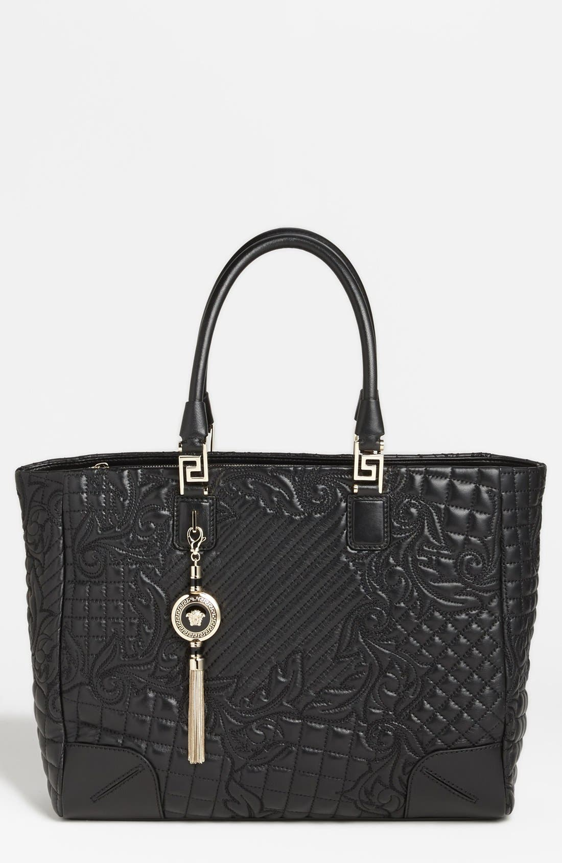 Main Image - Versace 'Vanitas' Embroidered Leather Tote