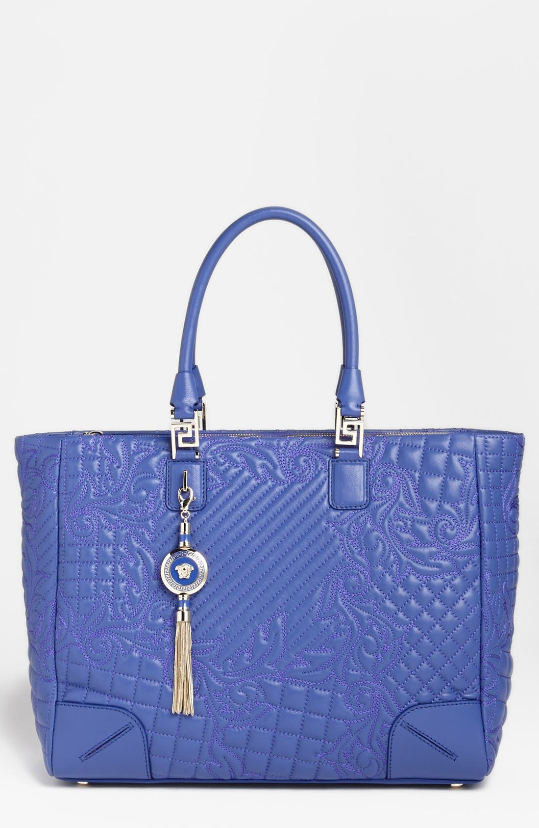 Alternate Image 1 Selected - Versace 'Vanitas' Embroidered Leather Tote
