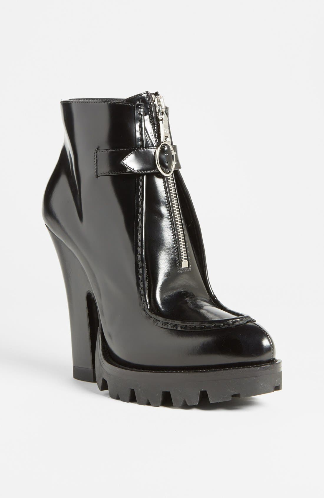 Alternate Image 1 Selected - Prada Front Zip Lug Sole Bootie