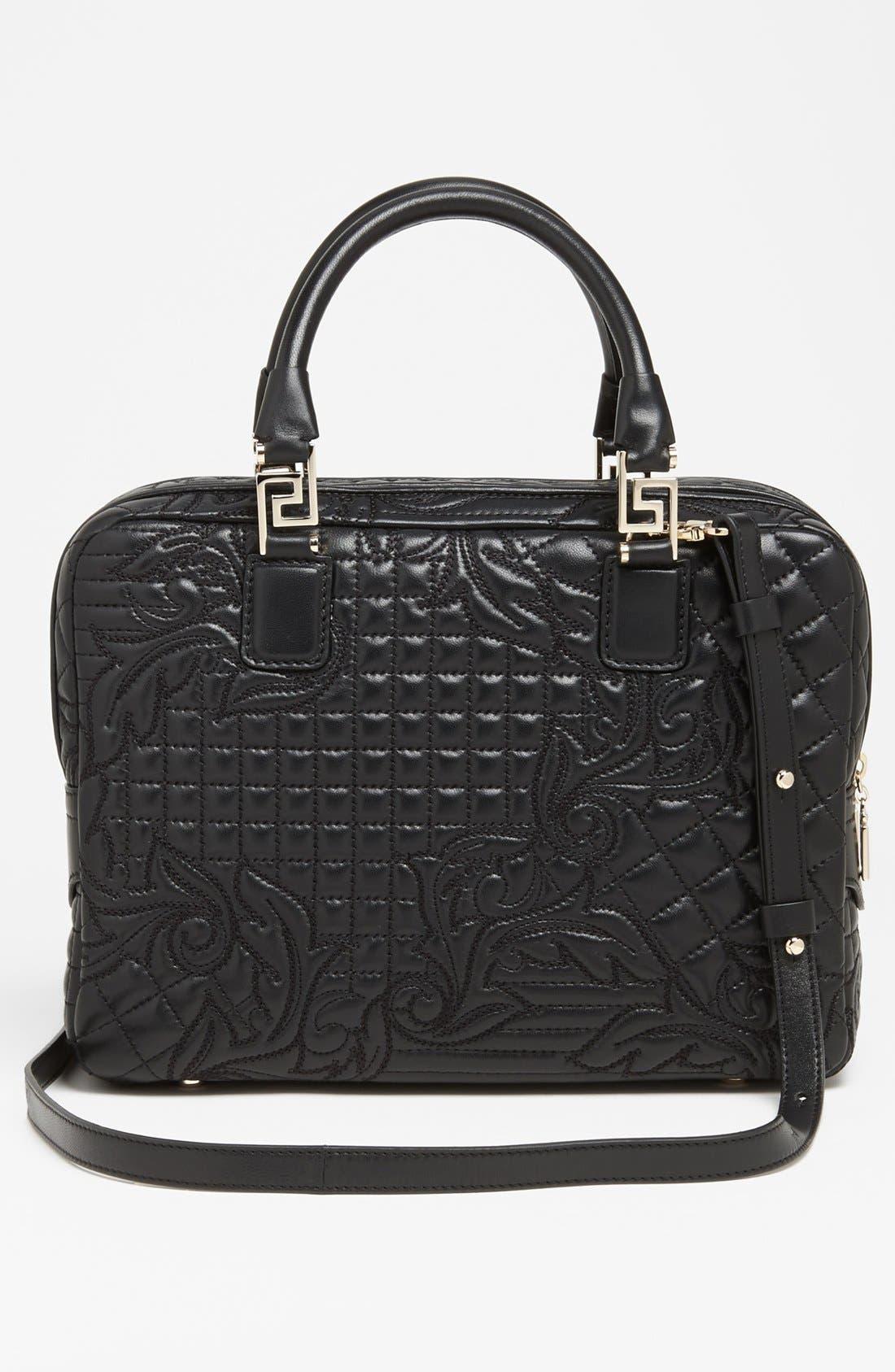 Alternate Image 4  - Versace 'Linea' Embroidered Leather Satchel