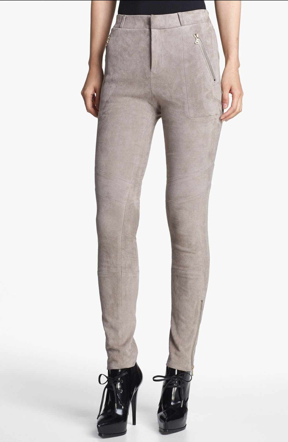 Alternate Image 1 Selected - J Brand Ready-to-Wear 'Astrid' Stretch Suede Pants