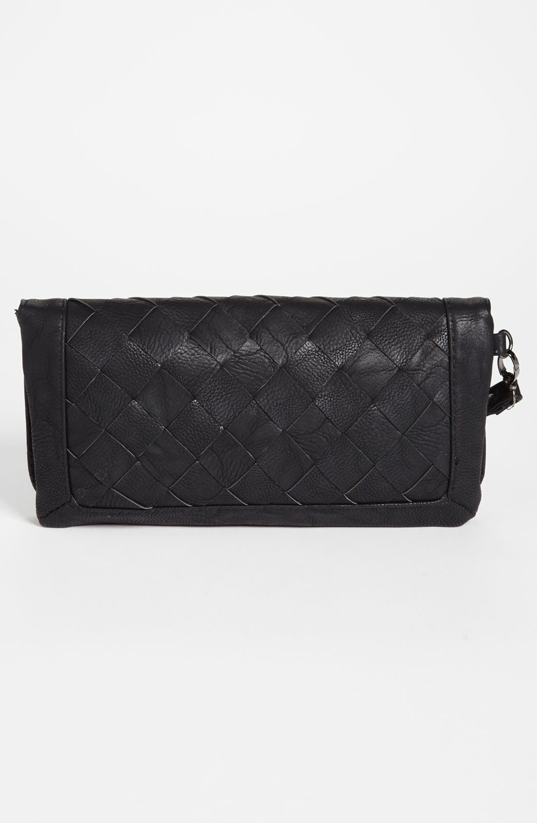 Alternate Image 4  - Natasha Couture Woven Faux Leather Clutch