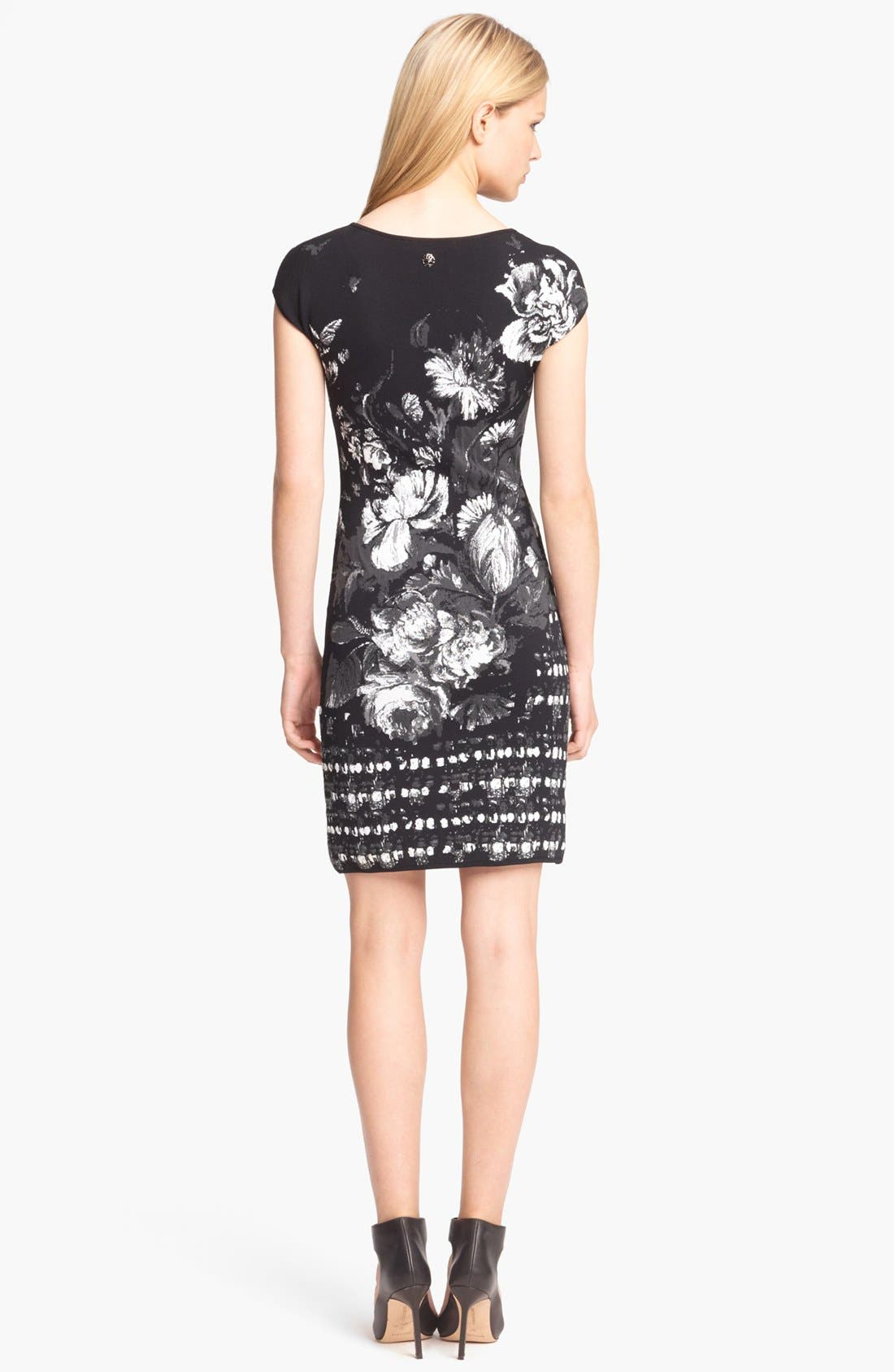 Alternate Image 2  - Roberto Cavalli Floral Jacquard Knit Dress