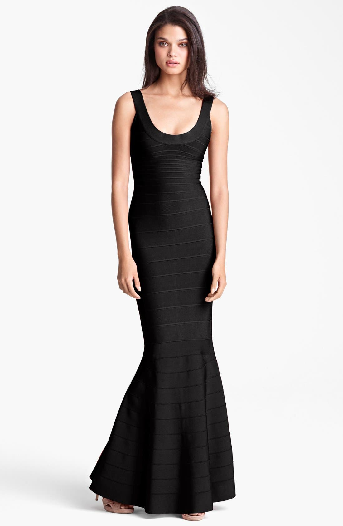 Main Image - Herve Leger Mermaid Bandage Gown