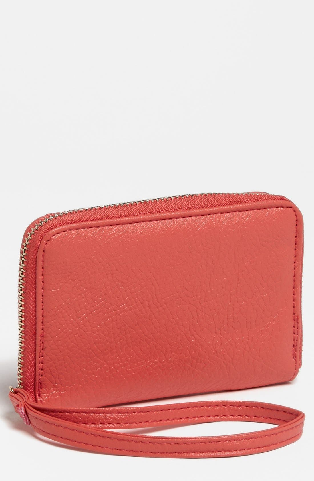 Main Image - Under One Sky Faux Leather Wristlet (Juniors) (Online Only)
