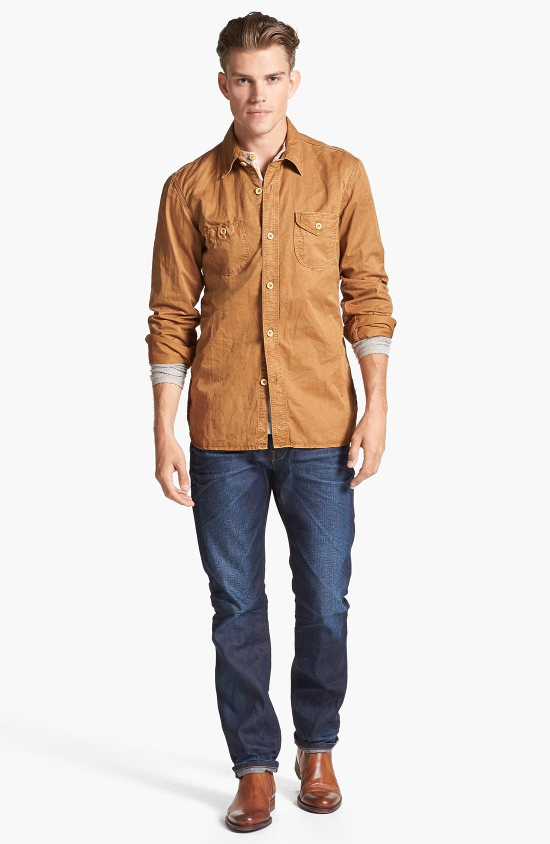 Alternate Image 4  - PRPS Cotton Woven Shirt