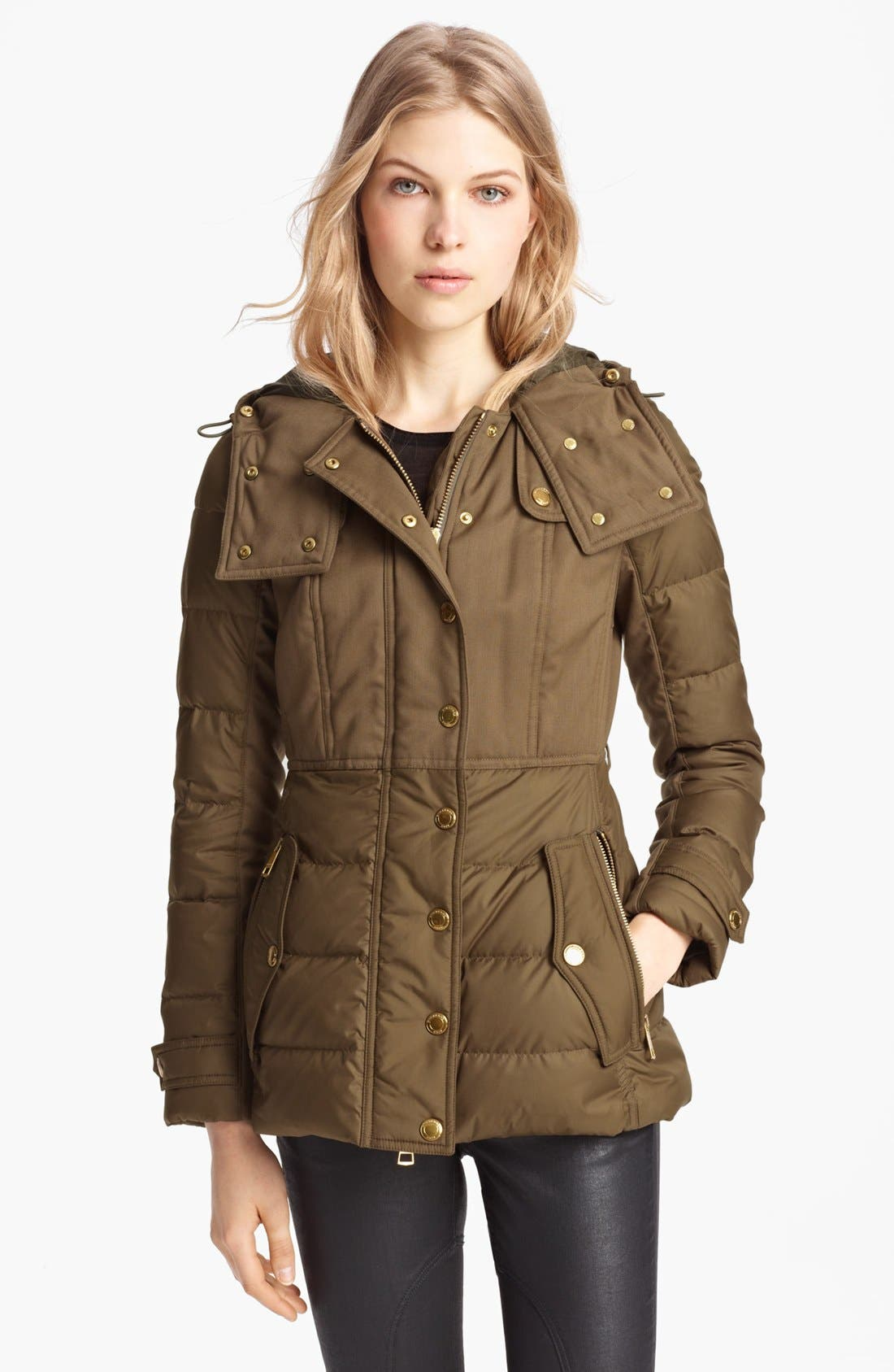 Alternate Image 1 Selected - Burberry Brit 'Gosden' Goose Down Jacket