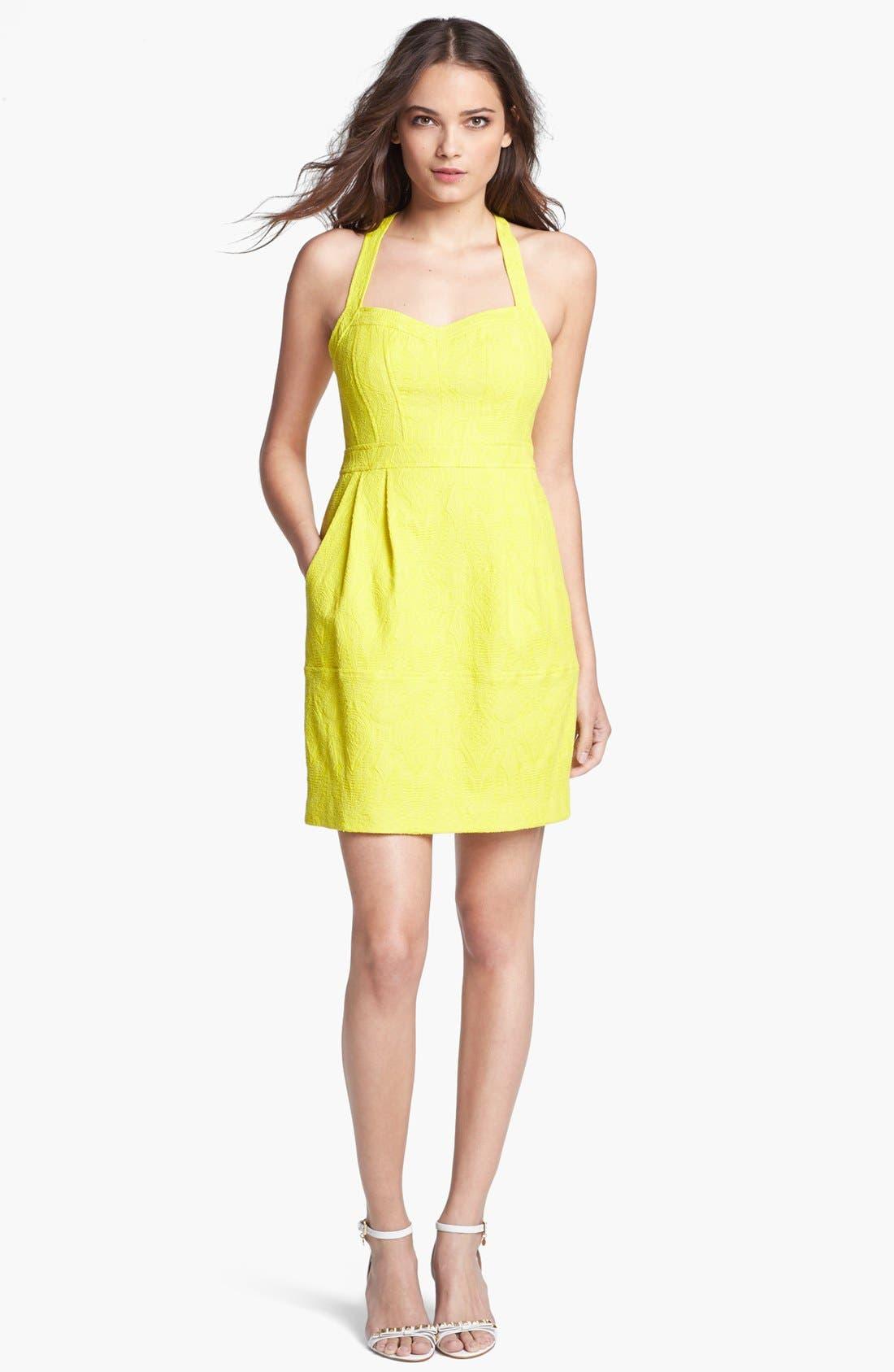 Alternate Image 1 Selected - Nanette Lepore 'Honeymoon' Cotton Blend A-Line Dress
