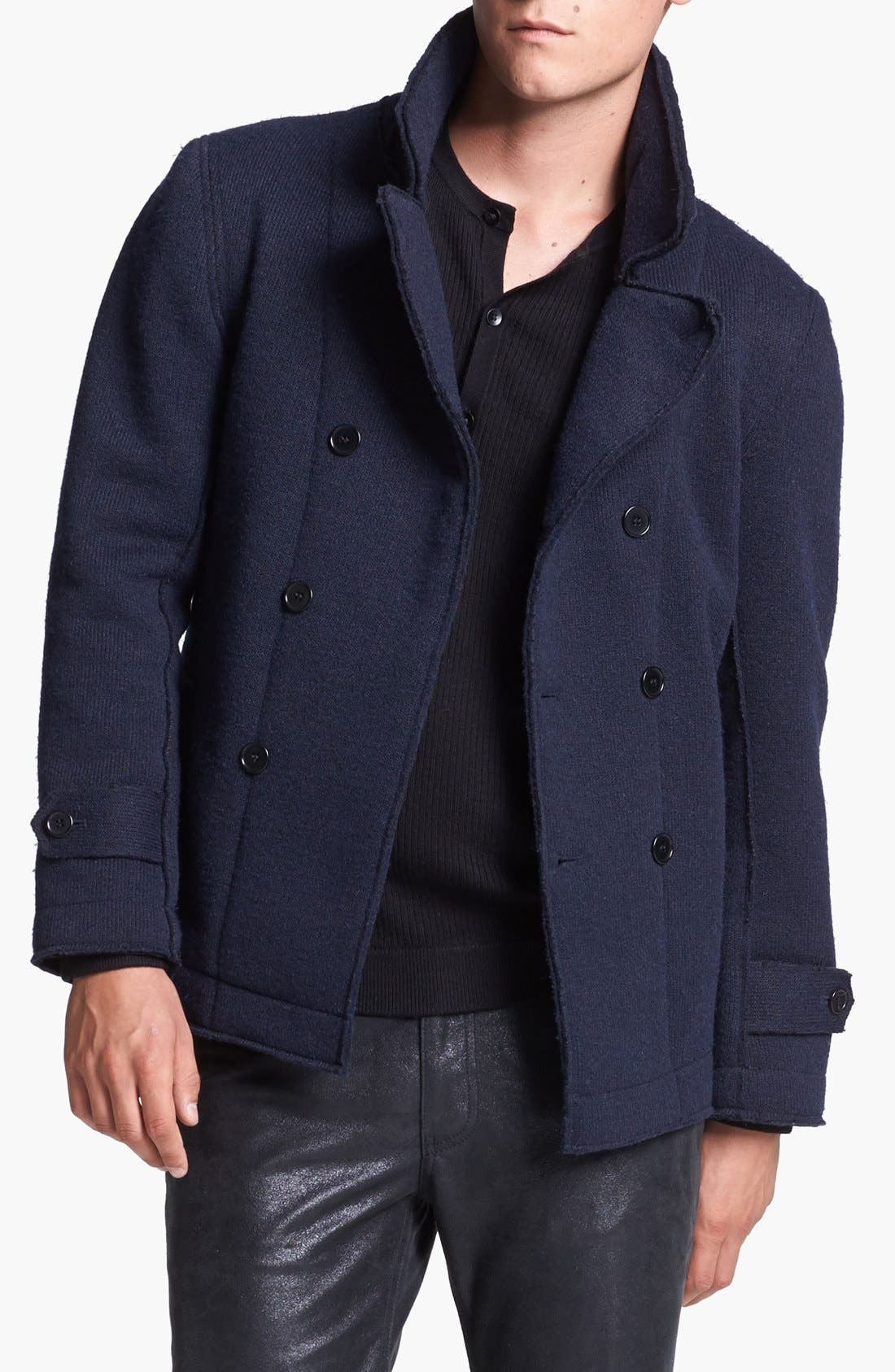 Main Image - Kenneth Cole Collection Double Breasted Knit Jacket