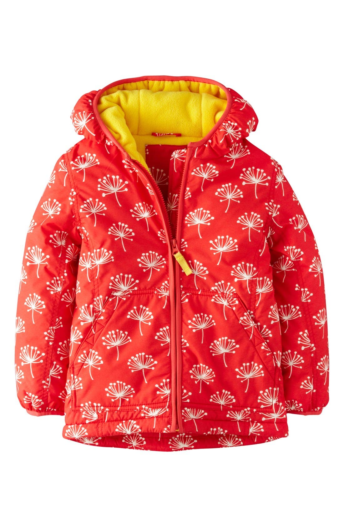 Alternate Image 1 Selected - Mini Boden Print Water Resistant Hooded Anorak (Little Girls & Big Girls)