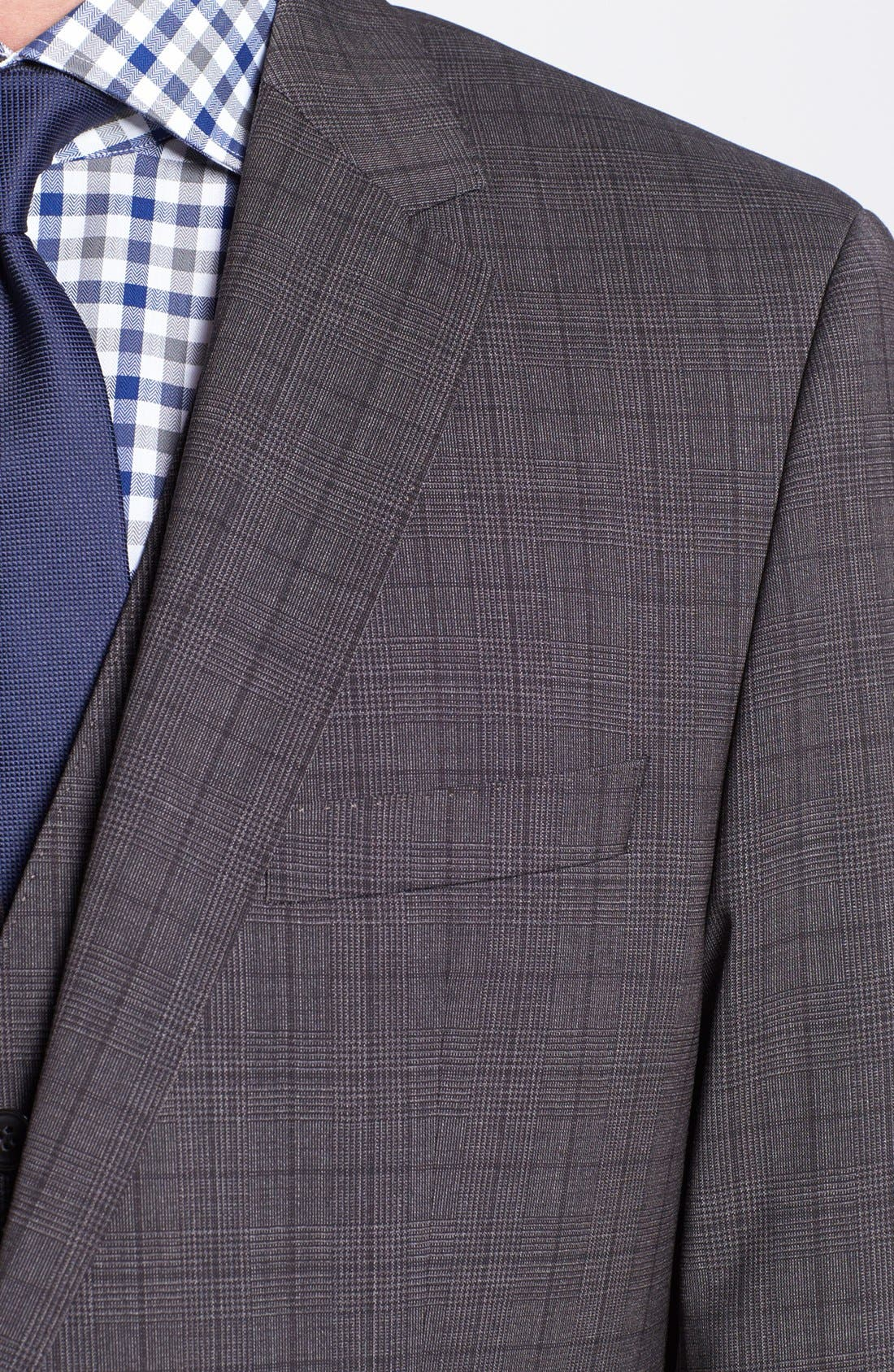 Alternate Image 3  - BOSS HUGO BOSS 'James/Sharp' Trim Fit Three Piece Plaid Suit