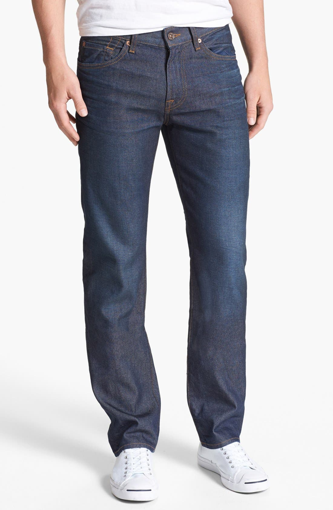 Alternate Image 2  - 7 For All Mankind® 'Slimmy' Slim Fit Jeans (Copper River)