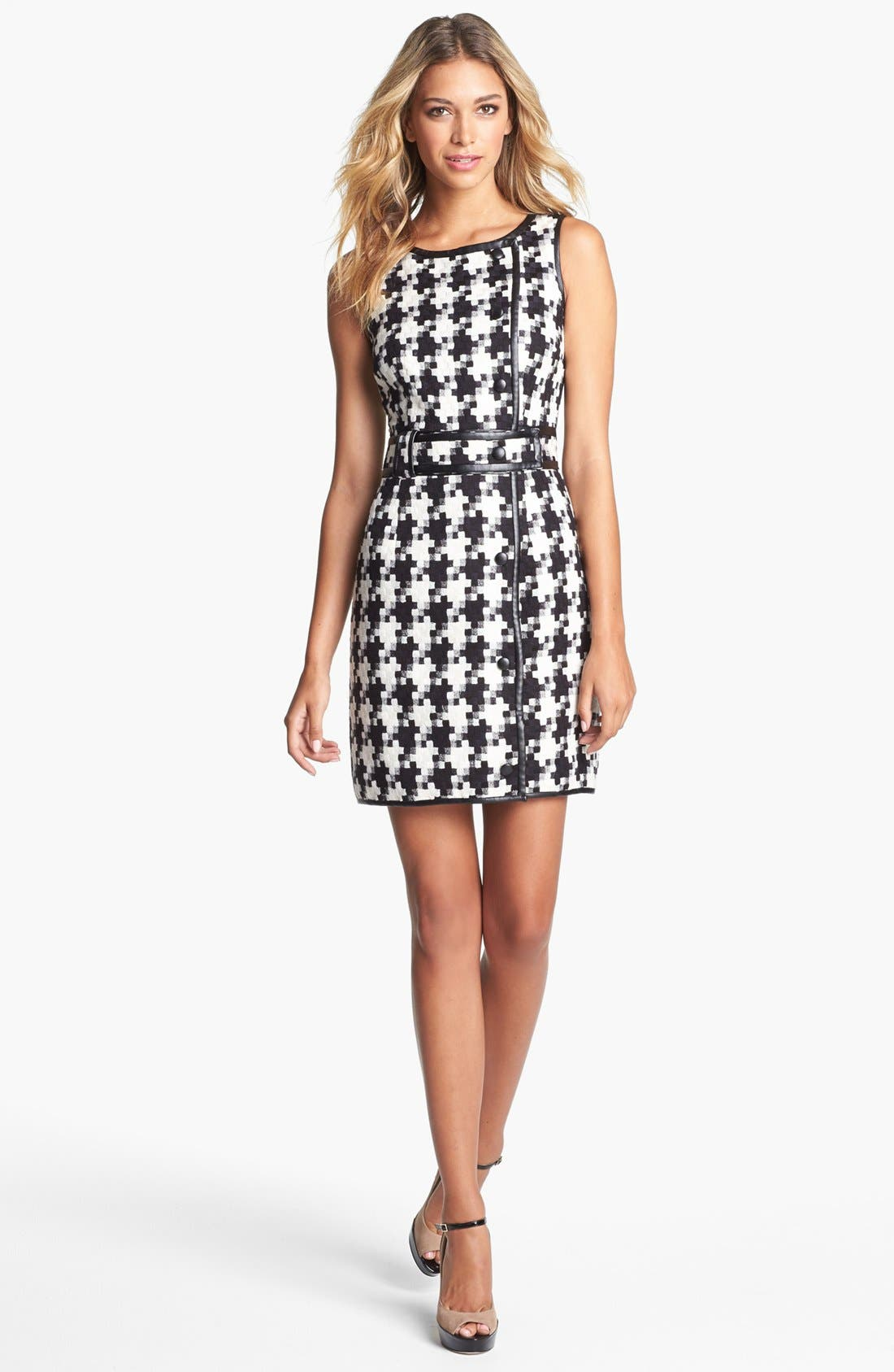 Main Image - Laundry by Shelli Segal Houndstooth Dress