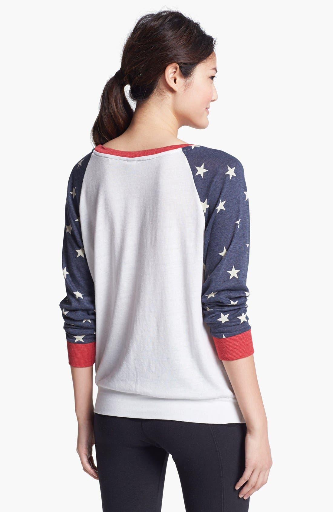Alternate Image 2  - Alternative Print Slouchy Pullover Top