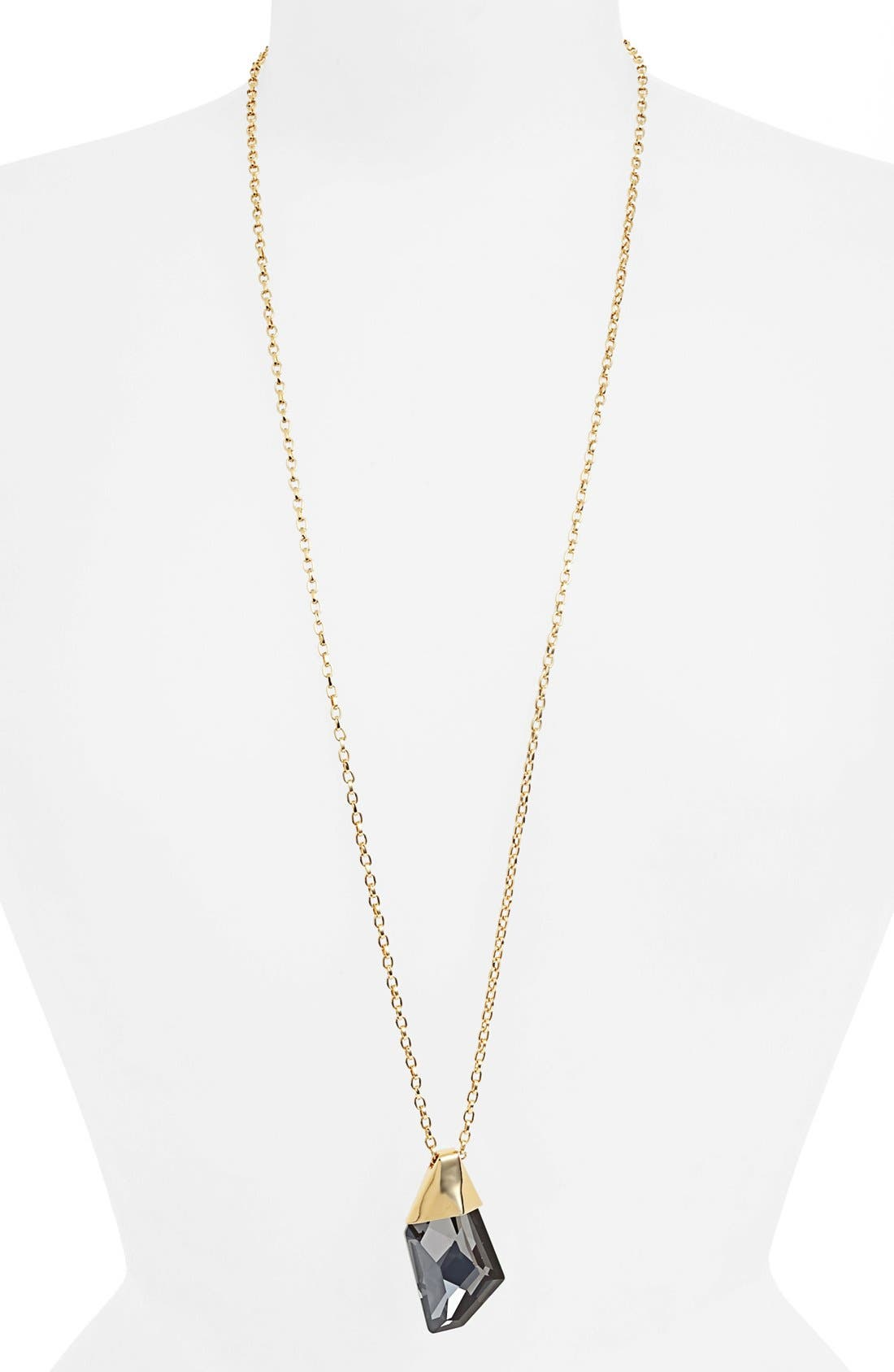 Alternate Image 1 Selected - St. John Collection Long Crystal Pendant Necklace