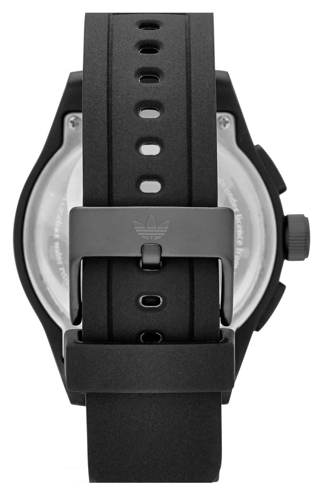 Alternate Image 2  - adidas Originals 'Newburgh' Chronograph Silicone Strap Watch, 48mm