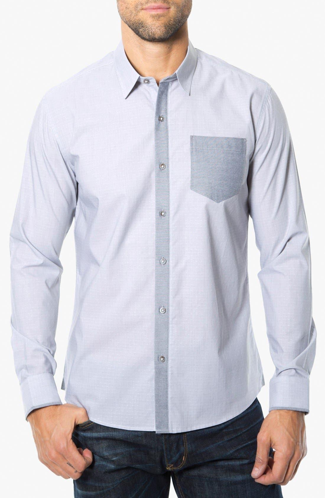Alternate Image 1 Selected - 7 Diamonds 'Electric Company' Trim Fit Cotton Sport Shirt