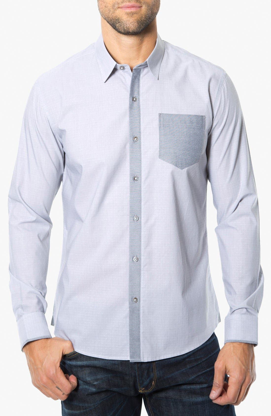 Main Image - 7 Diamonds 'Electric Company' Trim Fit Cotton Sport Shirt