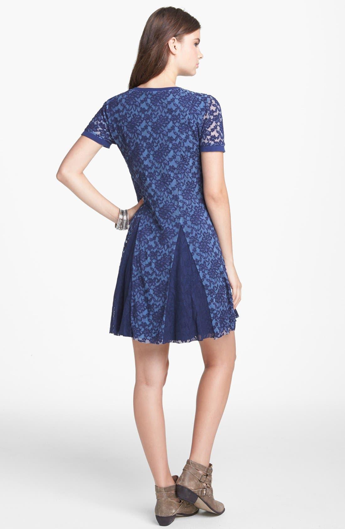 Alternate Image 2  - Rubbish® 'Humble' Lace Fit & Flare Dress (Juniors)