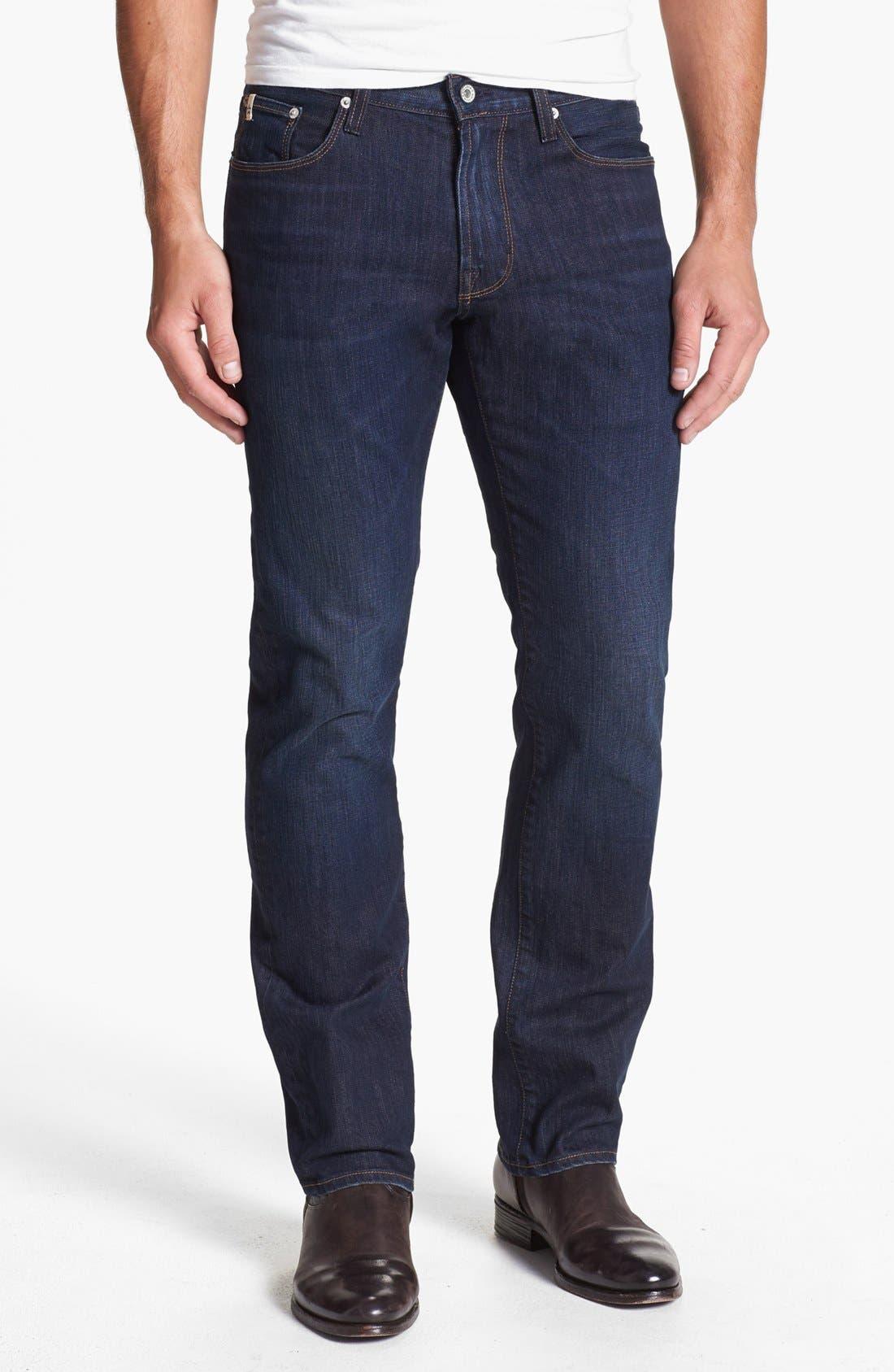 Alternate Image 1 Selected - Big Star 'Union' Regular Straight Leg Jeans (Curtis Dark)