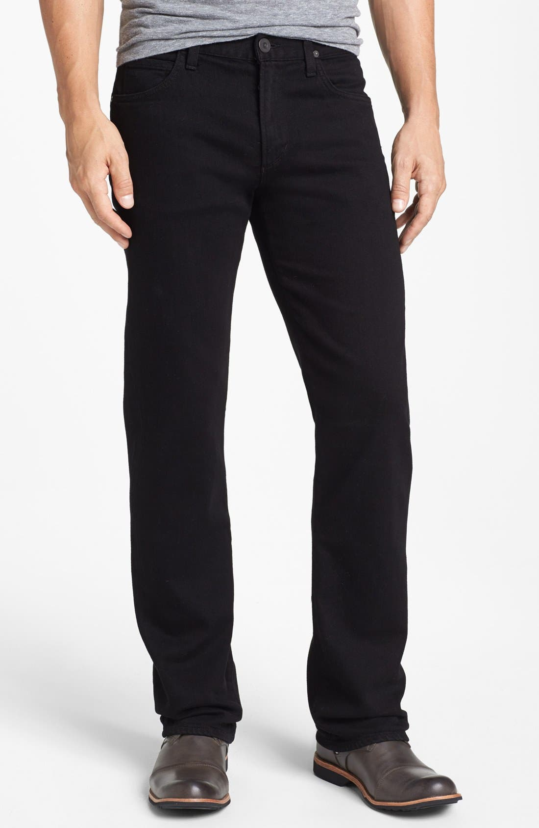 Main Image - Citizens of Humanity 'Sid' Classic Straight Leg Jeans (Midnight Black)