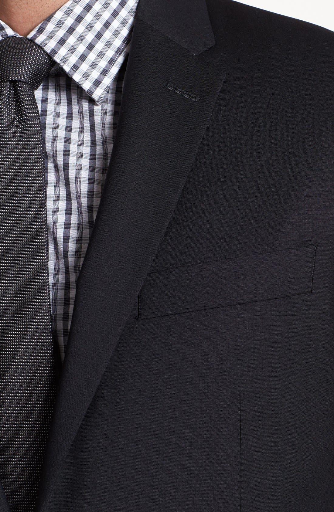 Alternate Image 3  - John Varvatos Star USA 'Townshend' Trim Fit Black Wool Blazer