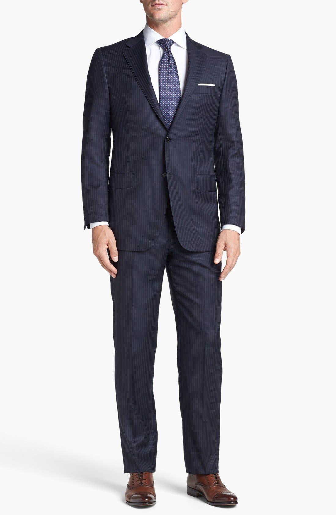 Main Image - Hickey Freeman 'B Series' Classic Fit Stripe Suit