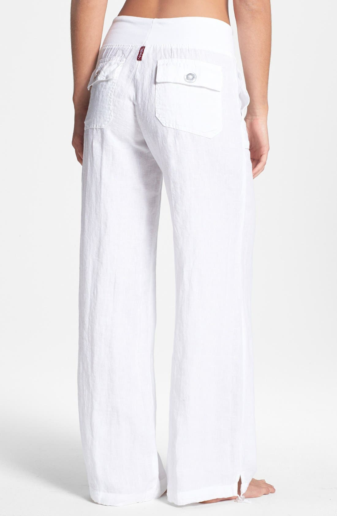 Alternate Image 2  - Hard Tail Relaxed Linen Cargo Pants