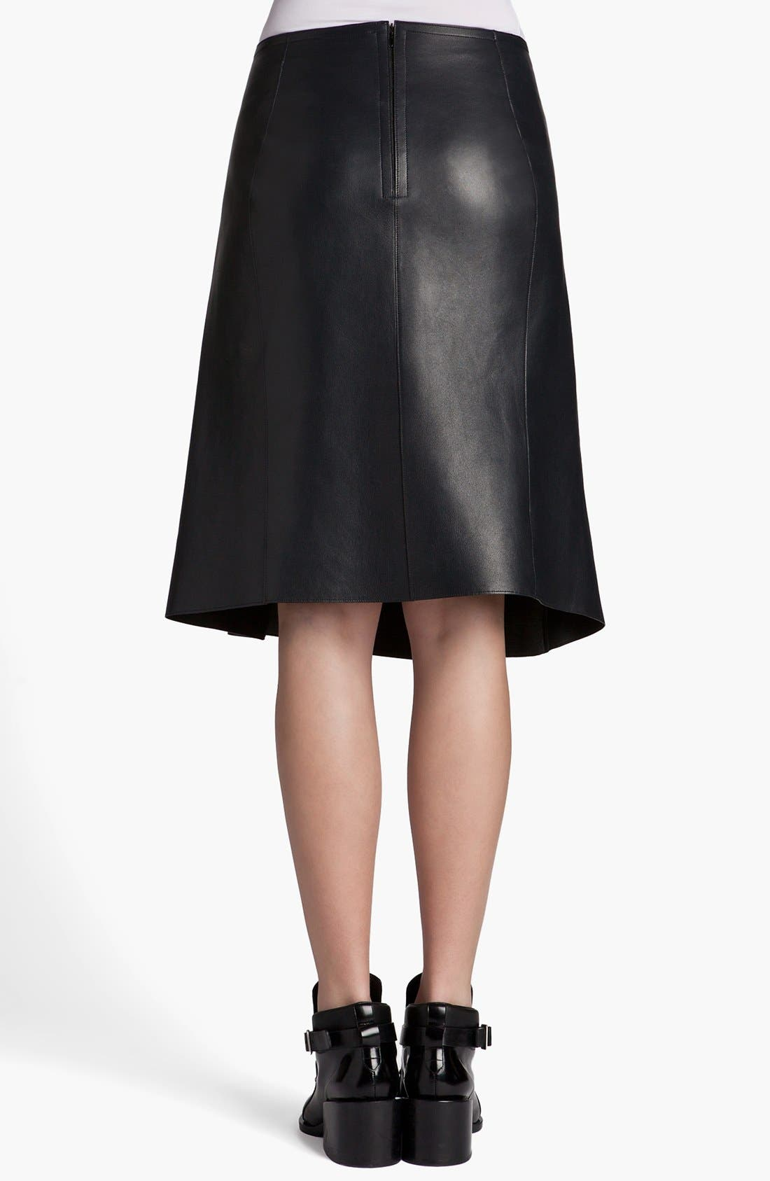 Alternate Image 3  - Jil Sander 'Pom Pom' Pleated Leather Skirt