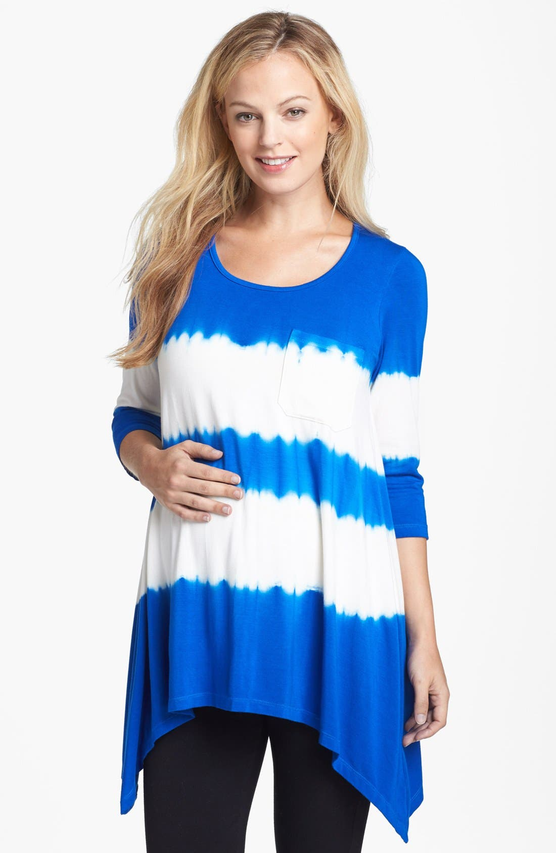 Main Image - Nom Maternity 'Holly' Tie Dye Maternity Top