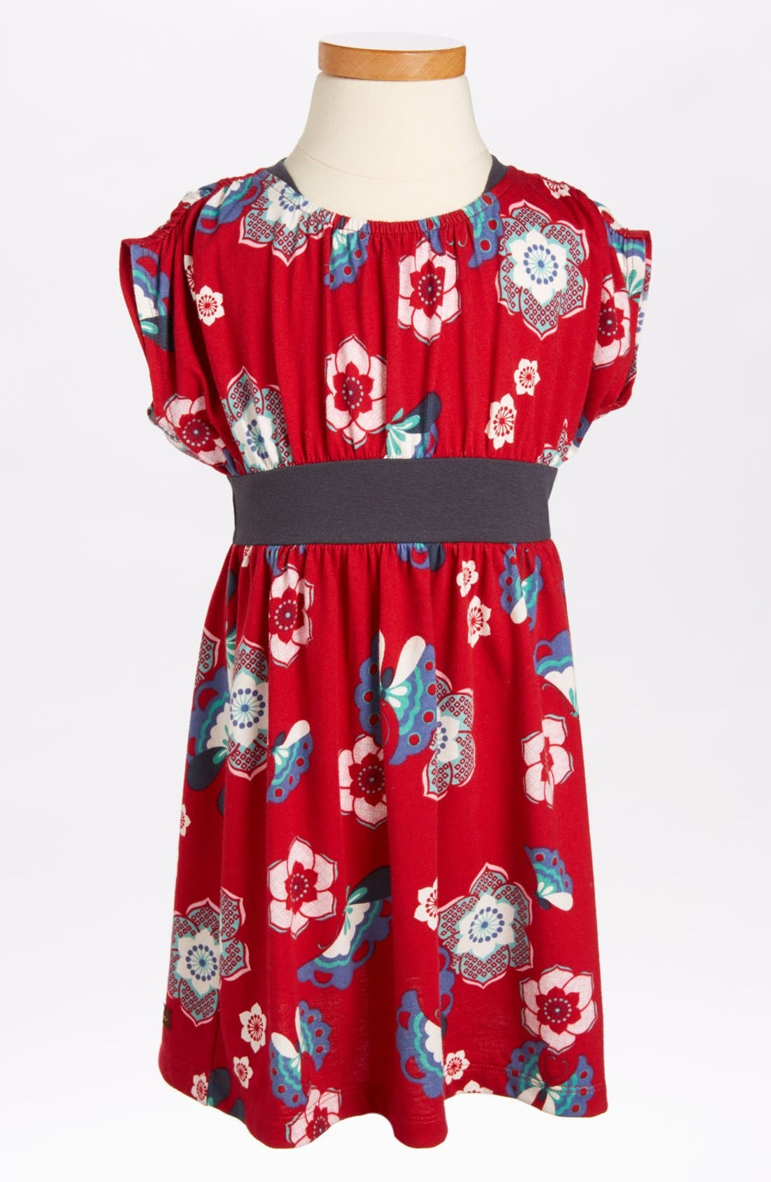 Main Image - Tea Collection Print Banded Dress (Little Girls & Big Girls)