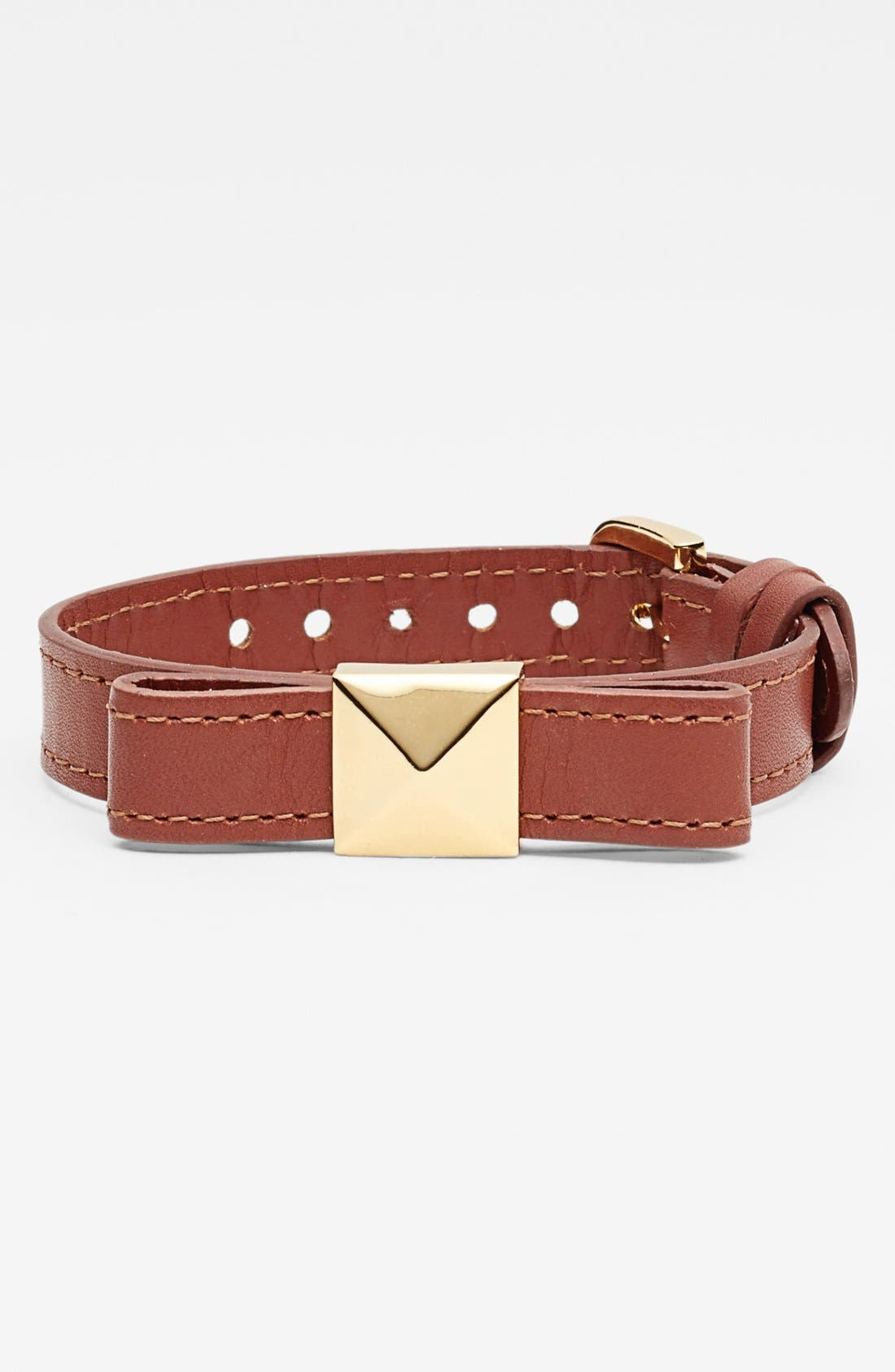 Main Image - kate spade new york 'locked in' leather bow bracelet