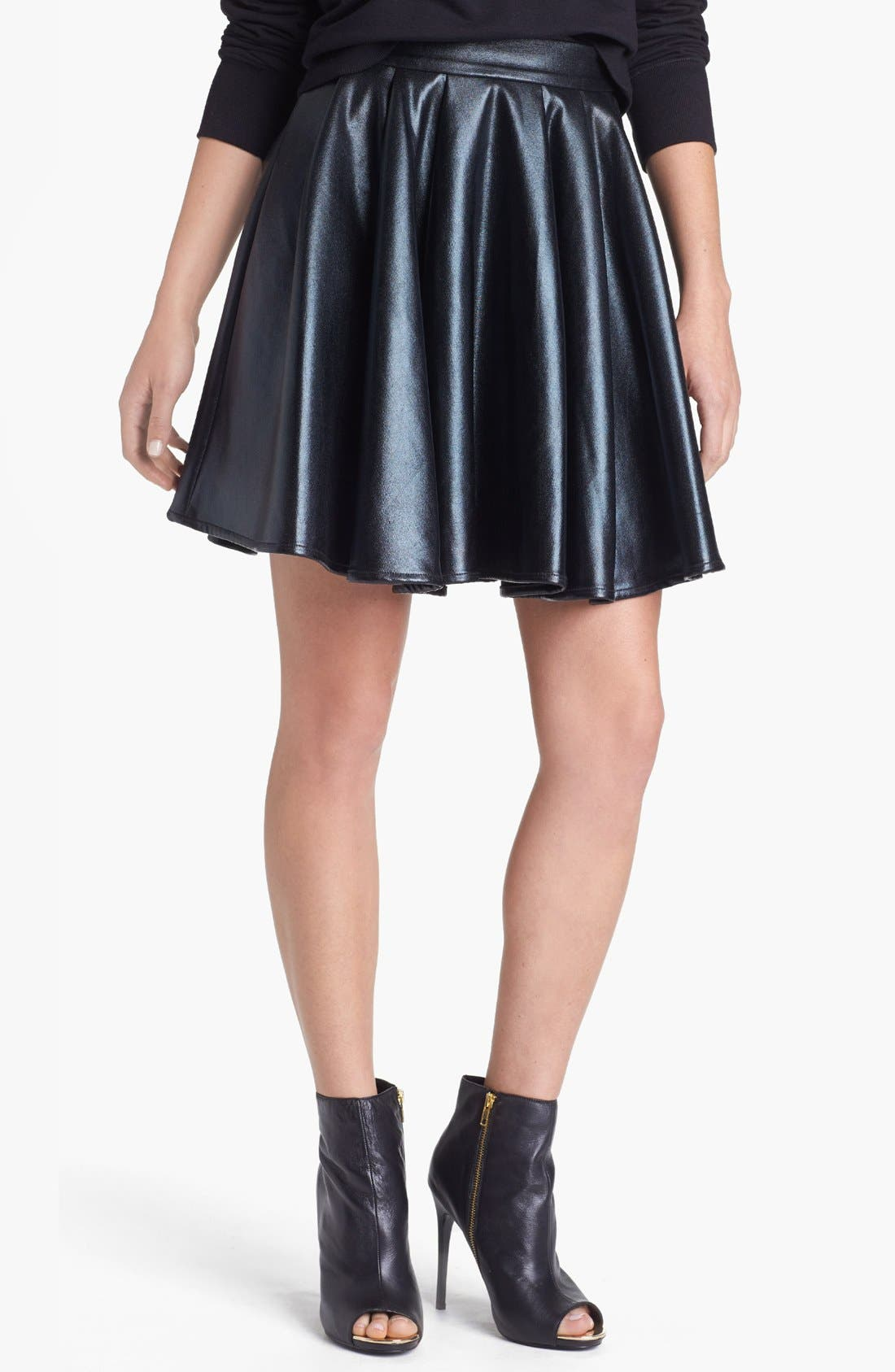 Alternate Image 1 Selected - ELEVENPARIS 'Timac' Faux Leather Skater Skirt