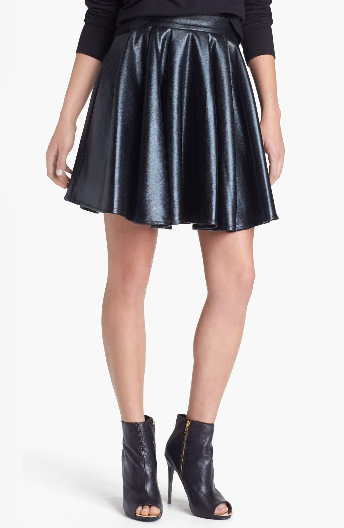 Main Image - ELEVENPARIS 'Timac' Faux Leather Skater Skirt