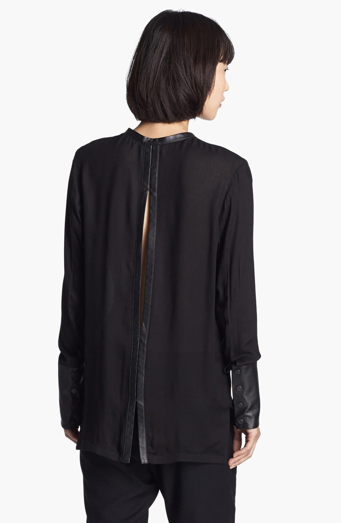 Alternate Image 3  - Helmut Lang Leather Cuff Blouse