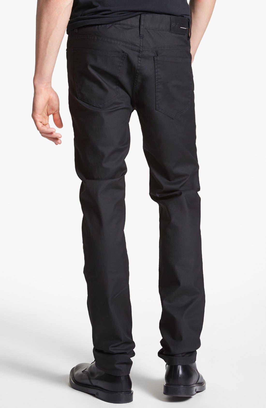 Alternate Image 2  - BLK DNM 'Jeans 5' Slim Straight Leg Jeans (Orchard Black)