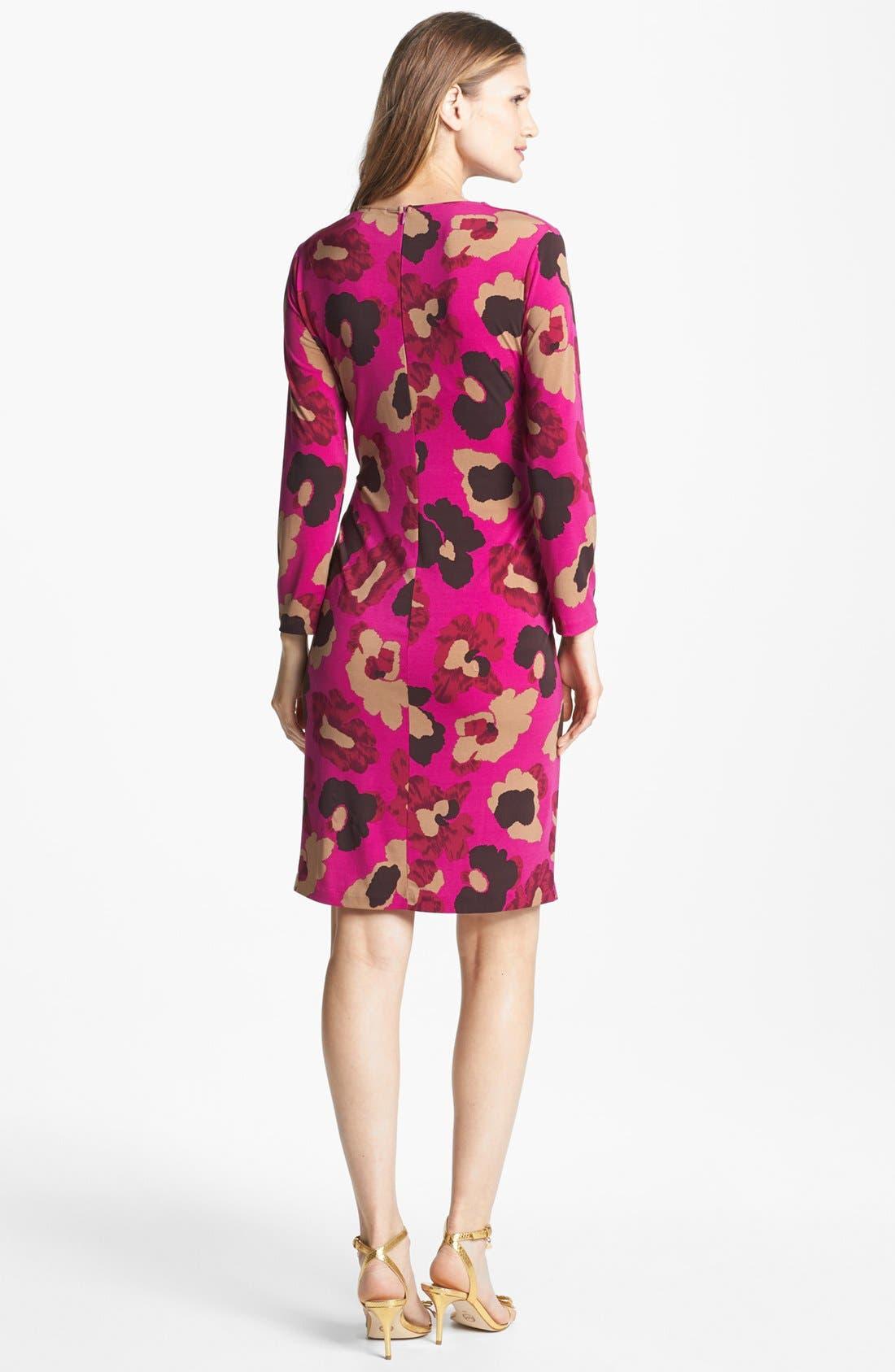 Alternate Image 2  - Anne Klein Floral Print Faux Wrap Dress