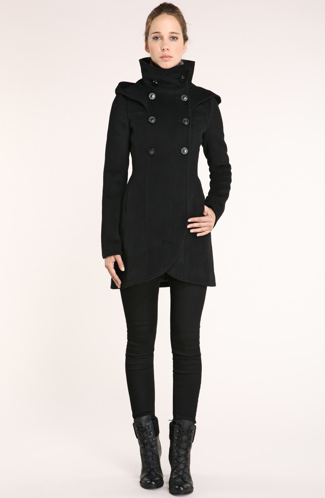 Alternate Image 3  - Soïa & Kyo Hooded Wool Coat