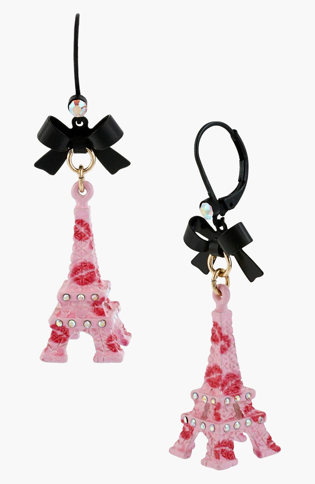 Main Image - Betsey Johnson 'Paris' Eiffel Tower Drop Earrings