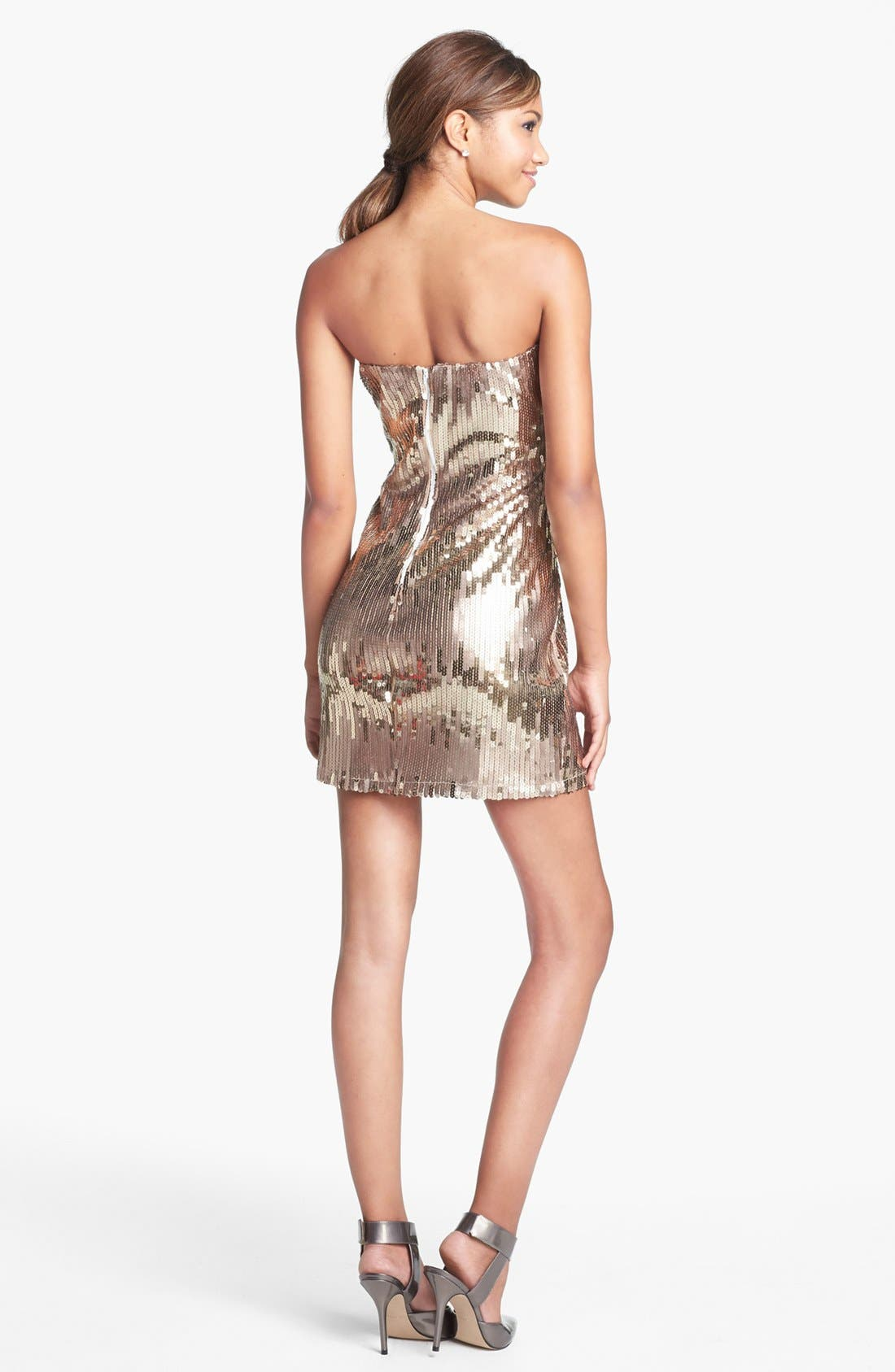 Alternate Image 2  - Trixxi Sequin Body-Con Dress (Juniors)