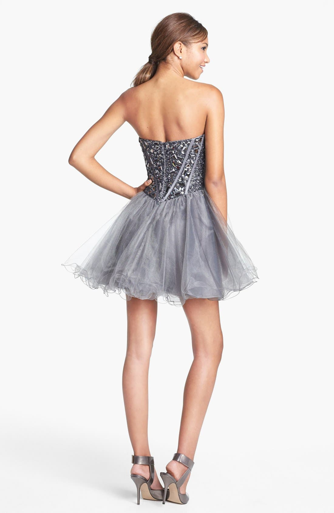 Alternate Image 2  - Sherri Hill Embellished Tulle Fit & Flare Dress