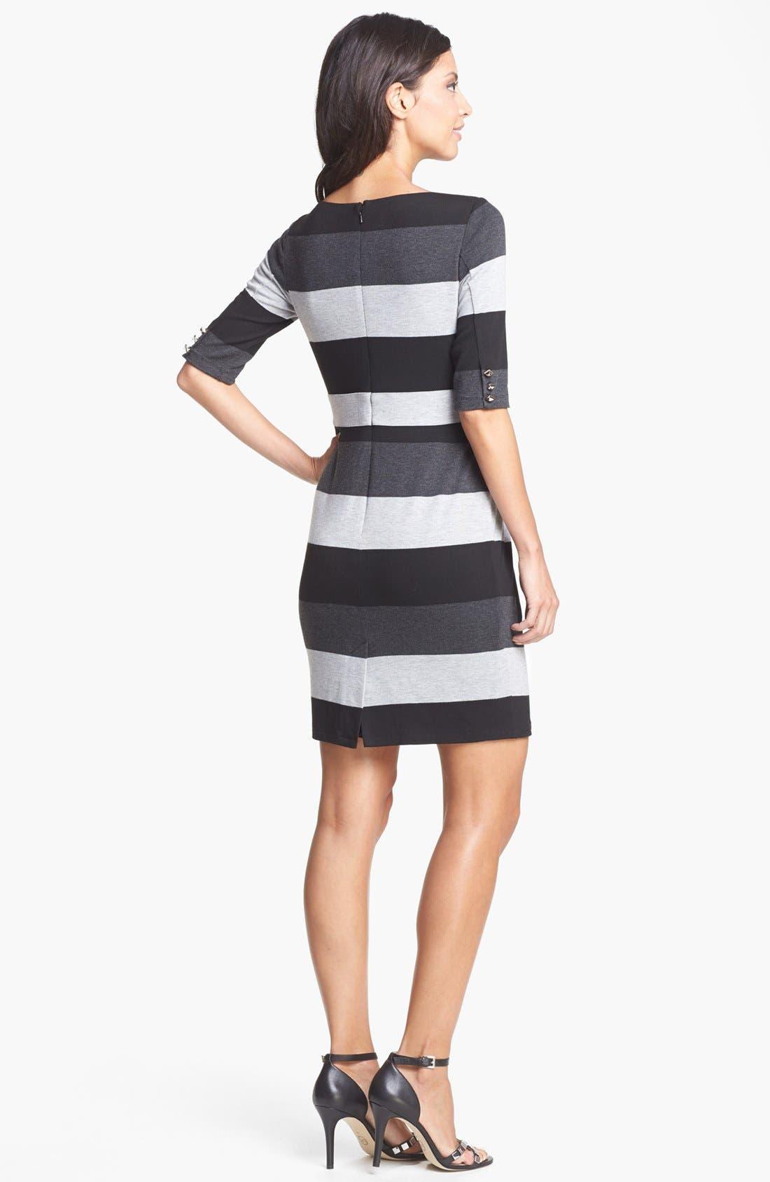 Alternate Image 2  - Vince Camuto Stripe Knit Sheath Dress