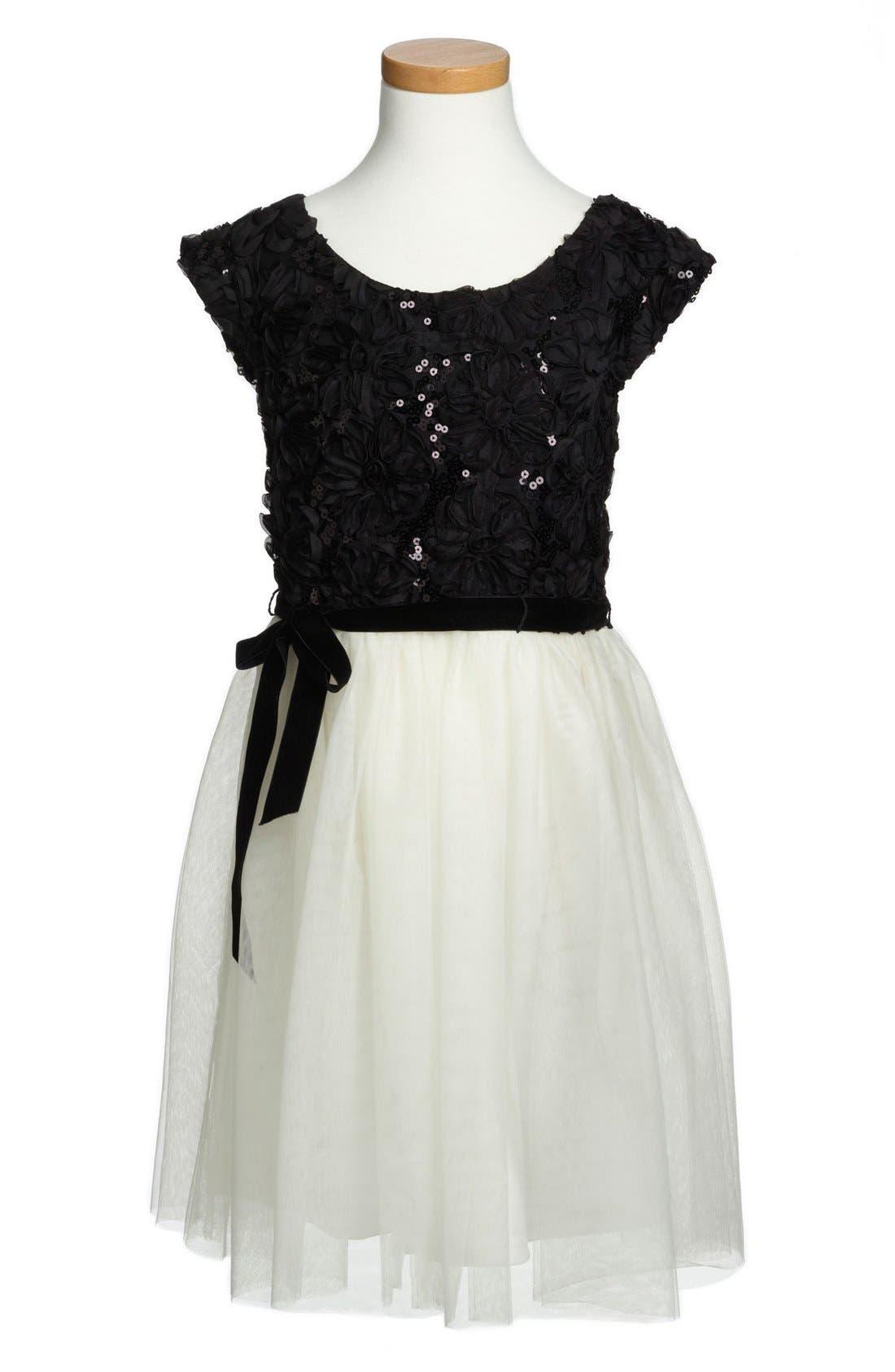 Main Image - Zunie Tulle Dress (Little Girls & Big Girls)