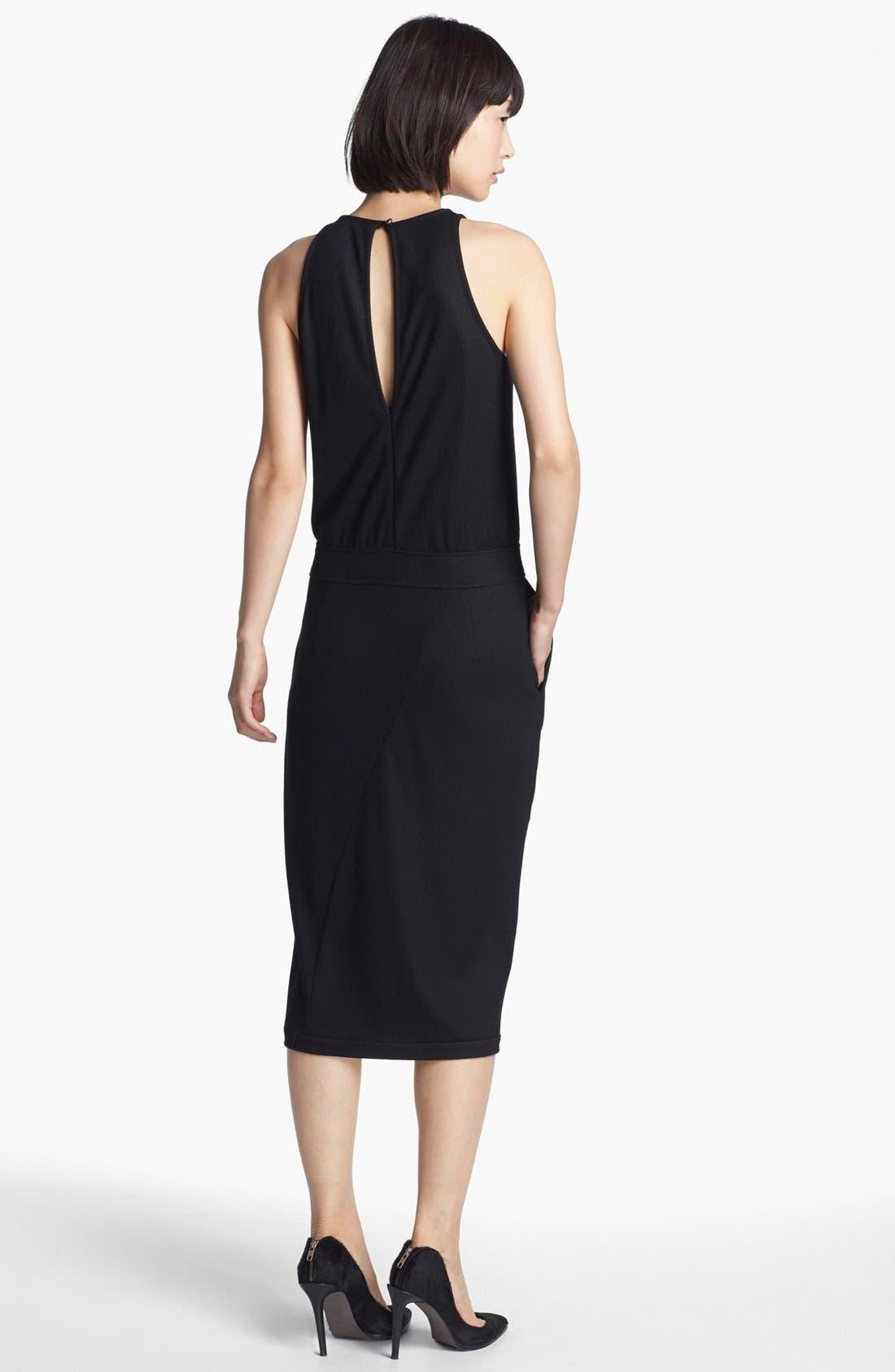 Alternate Image 2  - Helmut Lang 'Sonar Wool' Drape Front Dress