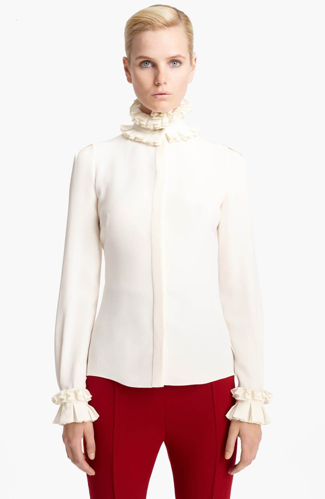 Alternate Image 1 Selected - Alexander McQueen Silk Cady Blouse