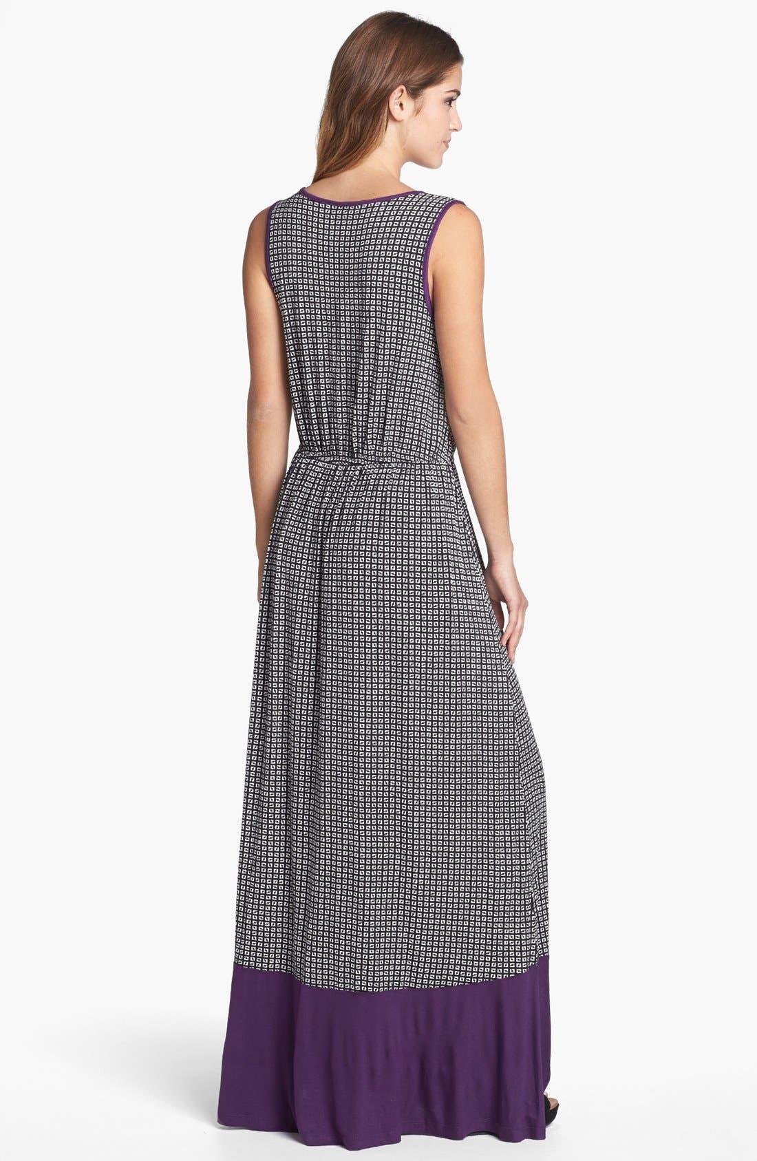 Alternate Image 2  - Bobeau Colorblock Print Maxi Dress