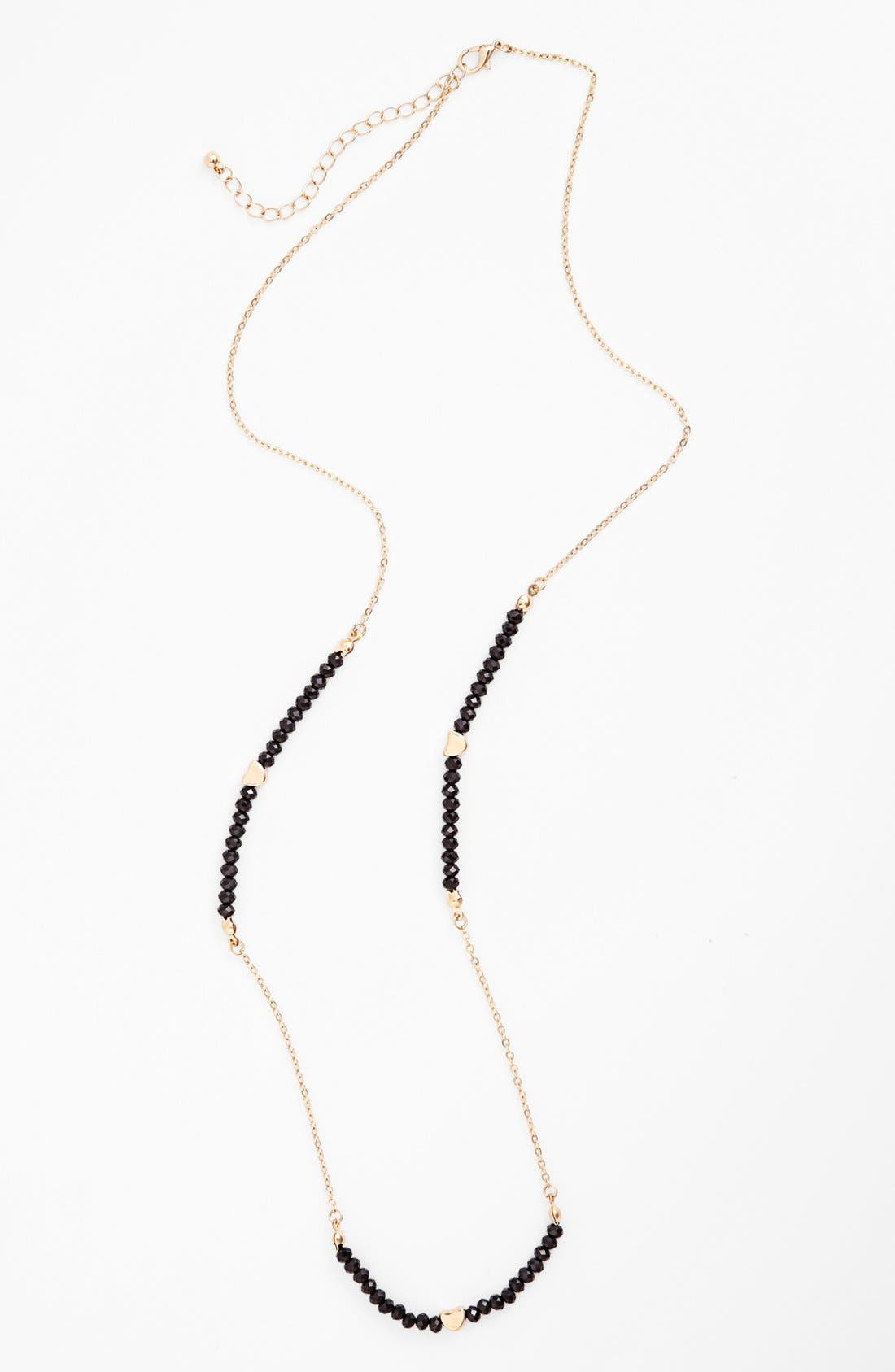 Alternate Image 1 Selected - Stephan & Co. Beaded Chain Necklace (Juniors) (Online Only)